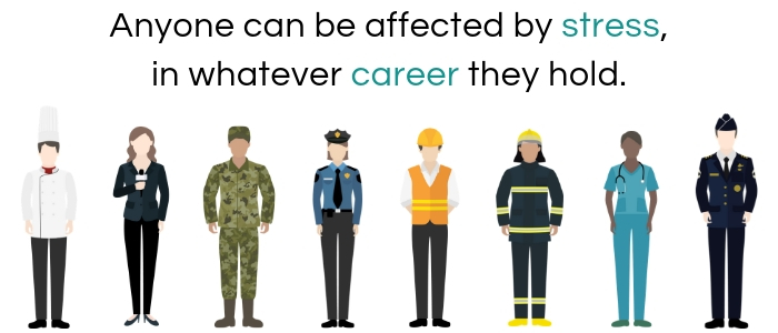 Anyone can be affected by stress, in whatever career they hold